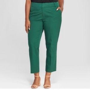 Ava Viv Ankle Pants Womens Plus Size Mid Rise New